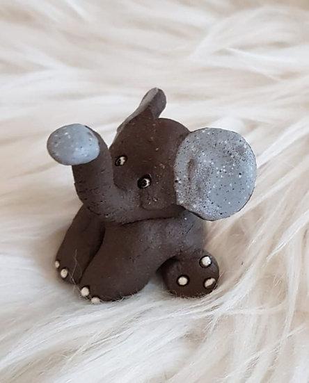 Elefant braun oder grau