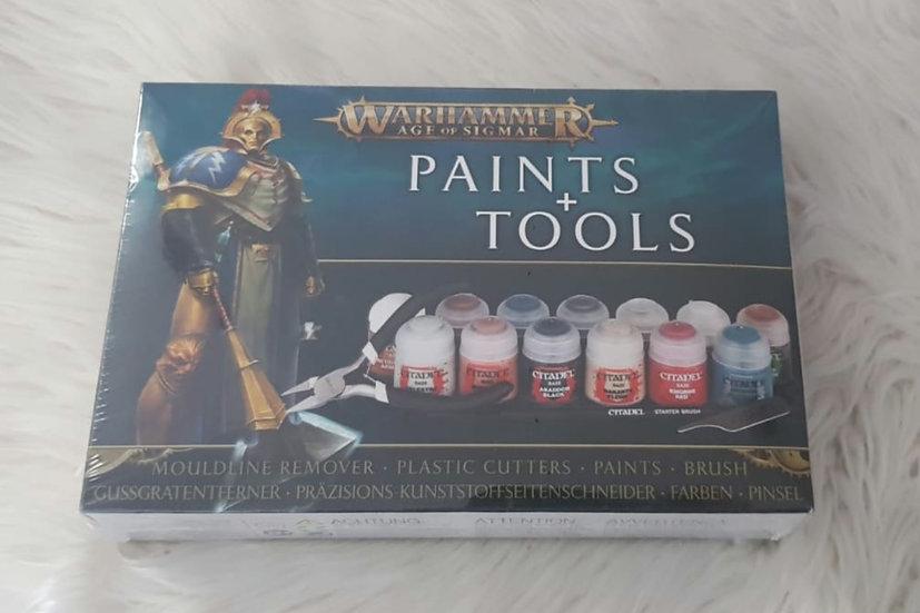 """Warhammer Age of Sigmar """"Paint + Tools"""" Set mit Farben und Werkzeugen"""