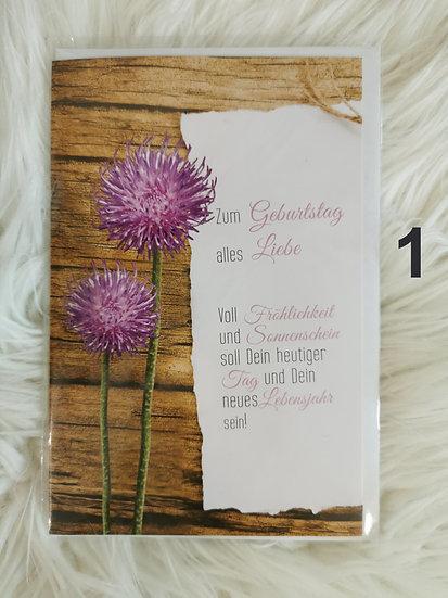 Blumen Geburtstagskarte