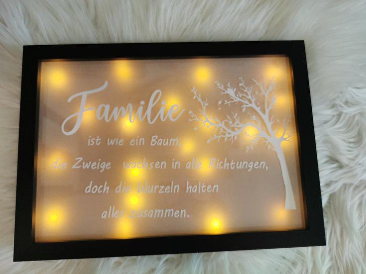 LED Schild - Familie