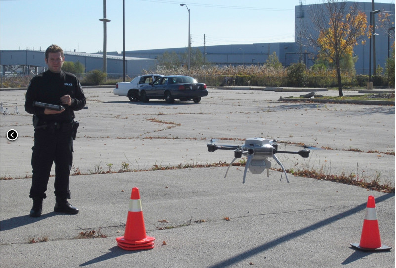 UAS help police investigate accidents