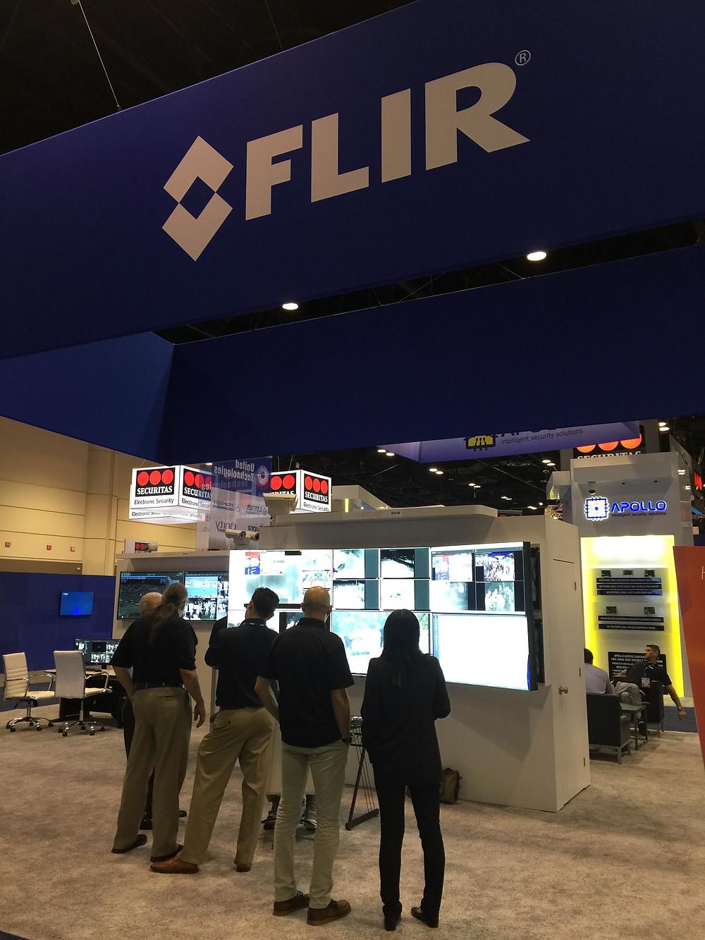 The FLIR booth at ASIS 2016