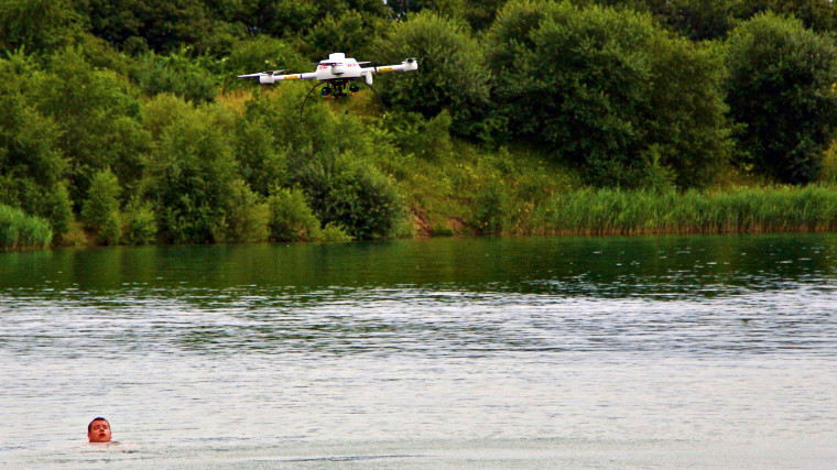 Drone helps save drowning victim