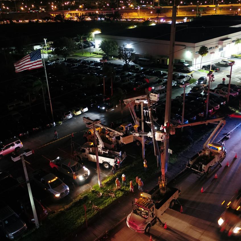 Airborne Response Hurricane IRMA Night Ops Power Restoration