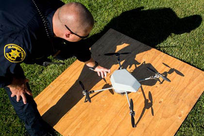 Drones may one day replace police helicopters