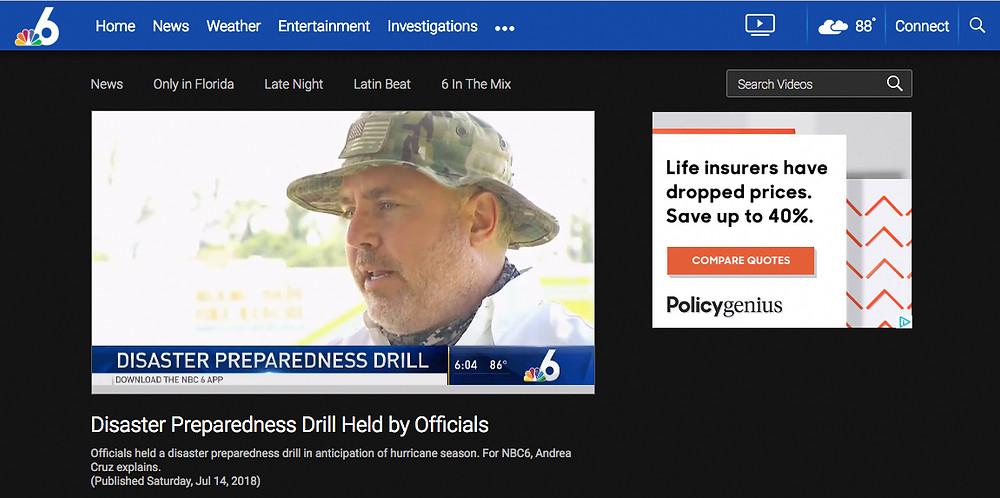 Airborne Response Christopher Todd on NBC 6 Miami