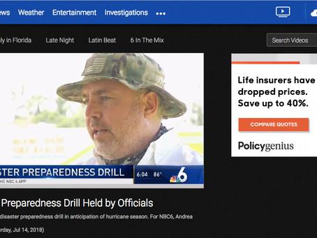 MEDIA CLIP: UAS DRONES Disaster Exercise 2018 at FIU via NBC 6 Miami