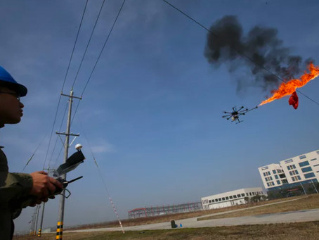 Fire-Breathing Drones Take to the Skies Over Chinese Streets