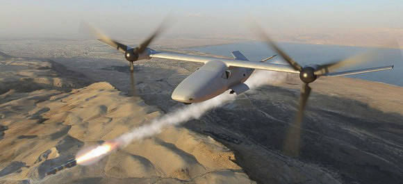 TEXTRON'S NEW V-247 VIGILANT DRONE TAKES AIM AT NORTHROP GRUMMAN'S TERN CONTRACT. IMAGE SOURCE: TEXTRON