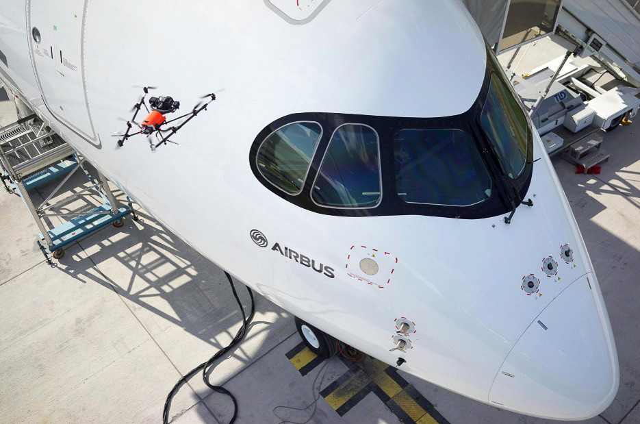 Intel and Airbus are using UAV's to conduct aircraft inspections.