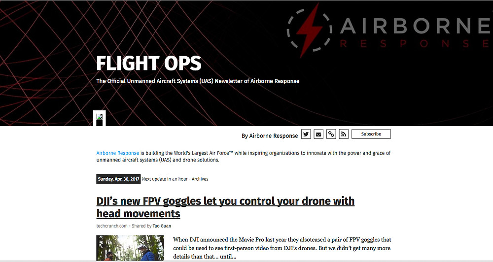 FLIGHT OPS Drone and UAS Industry News by Airborne Response