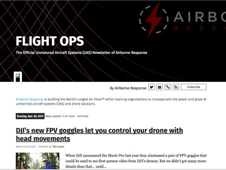 Latest Drone/UAS News Now Posted via FLIGHT OPS by Airborne Response