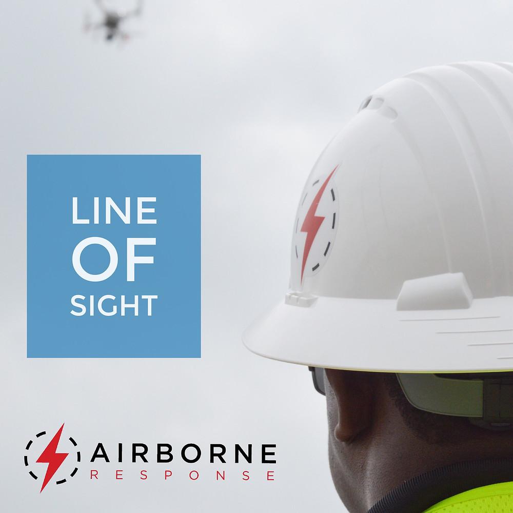 FAA Part 107 regulations require Line of Sight flight operations