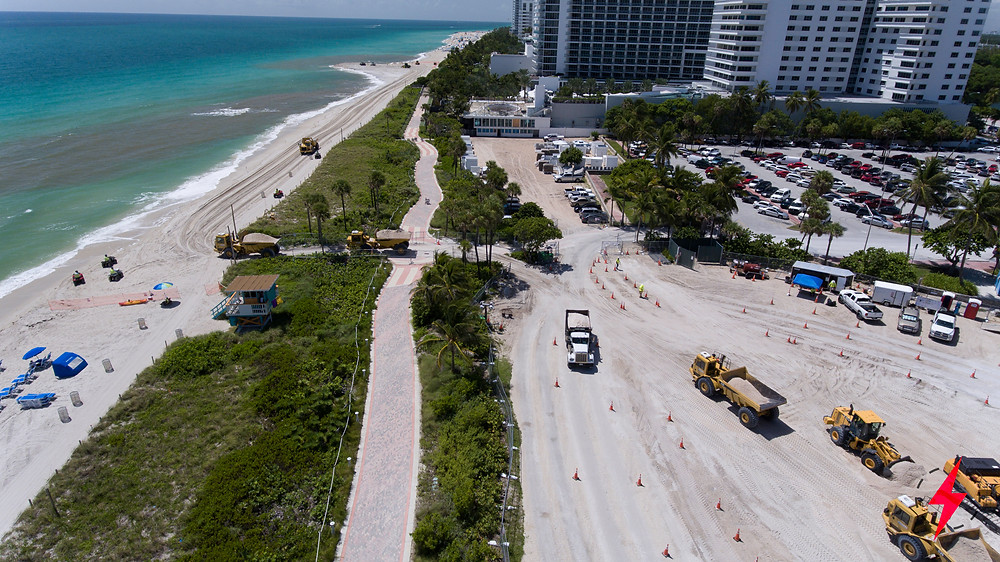 Miami Beach looking south from drone