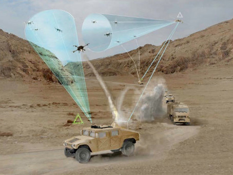 DARPA'S Mobile Force Protection Program to Protect Convoys with Drones