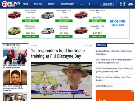 MEDIA CLIP: UAS DRONES Disaster Exercise at FIU via FOX 7 News Miami