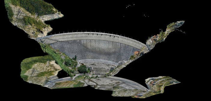 Photogrammetry model of the Ridracoli Dam, Italy.