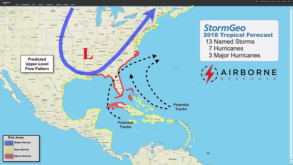 2018 Atlantic Hurricane Season Forecast from StormGeo