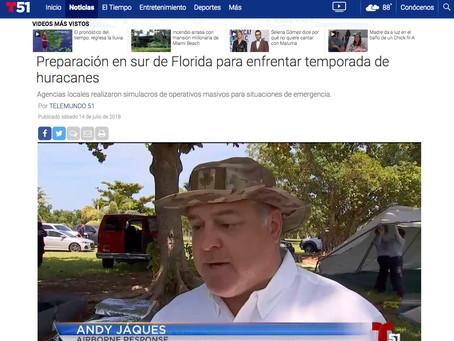 MEDIA CLIP: DISASTER EXERCISE 2018 Telemundo 51