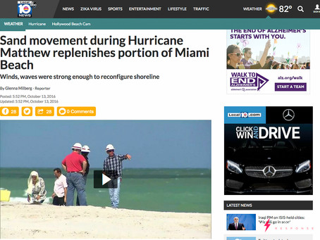 MEDIA CLIP: Drone Shows Sand Movement During Hurricane Matthew Replenishes Portion of Miami Beach