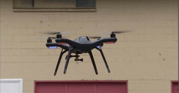 Police Use Drone For Mapping Crime Scene