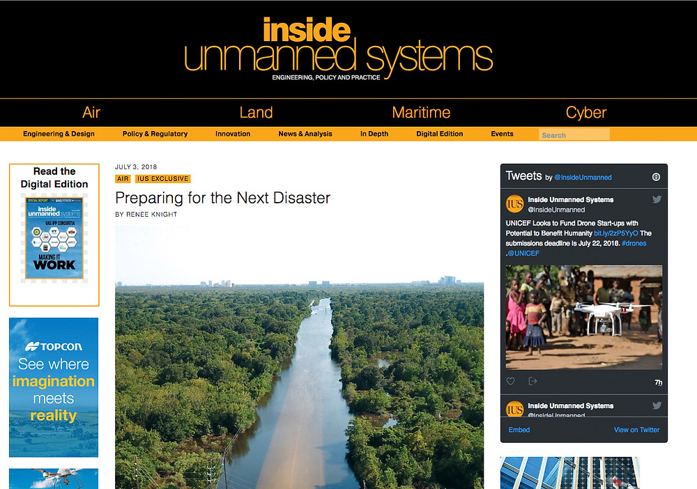 Airborne Response featured by Inside Unmanned Systems
