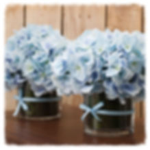 blue, hydrangea, centerpiece, arrangement, wedding, flowers, silk, artificial, DIY, country, vintage,
