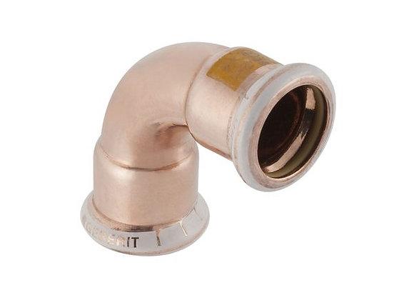 Geberit Mapress  90deg gas elbow 15mm Copper Product Code - 34500