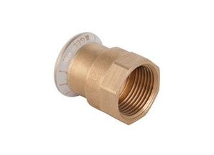 "Geberit Mapress 61802 female iron straight connector 15mm x 1/2"" Copper"