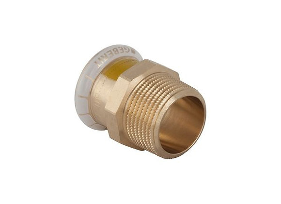 """Geberit Mapress  male iron straight gas connector 15mm x 1/2""""Product Code- 34666"""