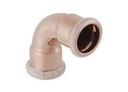 Geberit Mapress  90deg elbow 15mm Copper  Product Code - 60102