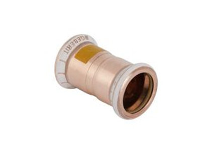 Geberit Mapress  straight gas coupling 22mm Copper Product Code - 34603