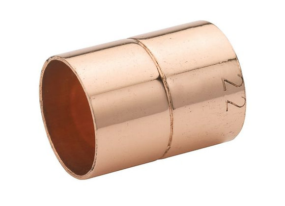 End Feed Straight Coupling 22mm - Copper PRODUCT CODE - 30400017