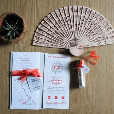 Faire-part, plan et cadeaux invités - Angela & Mickaël