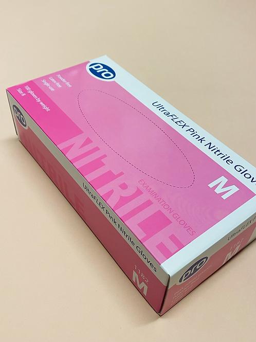 Pink Latex Free Gloves (100 Box)