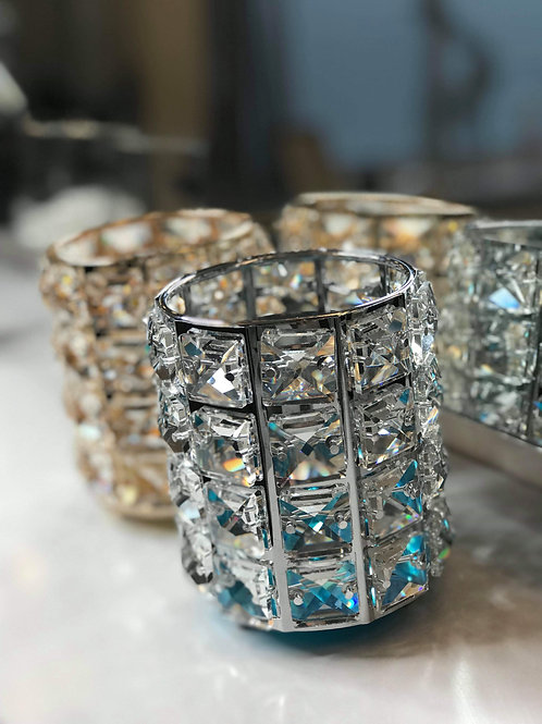 Crystal Table Pots/Brush Holders