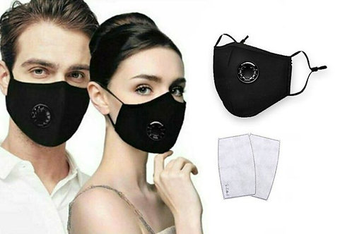 Black Cloth Face Masks - inc 2x Filters