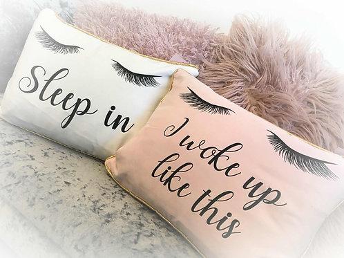 Cute Lash Motif Pillows