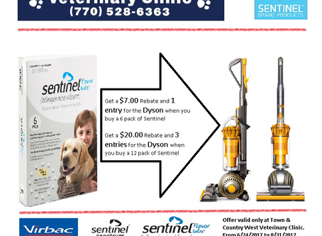 One more week for a chance to win a Dyson vacuum cleaner and up to $20.00 back!