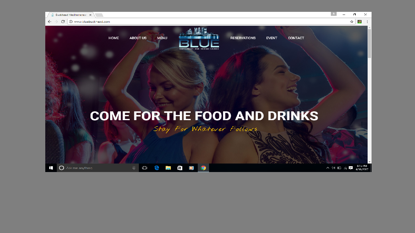 Blue Web Page