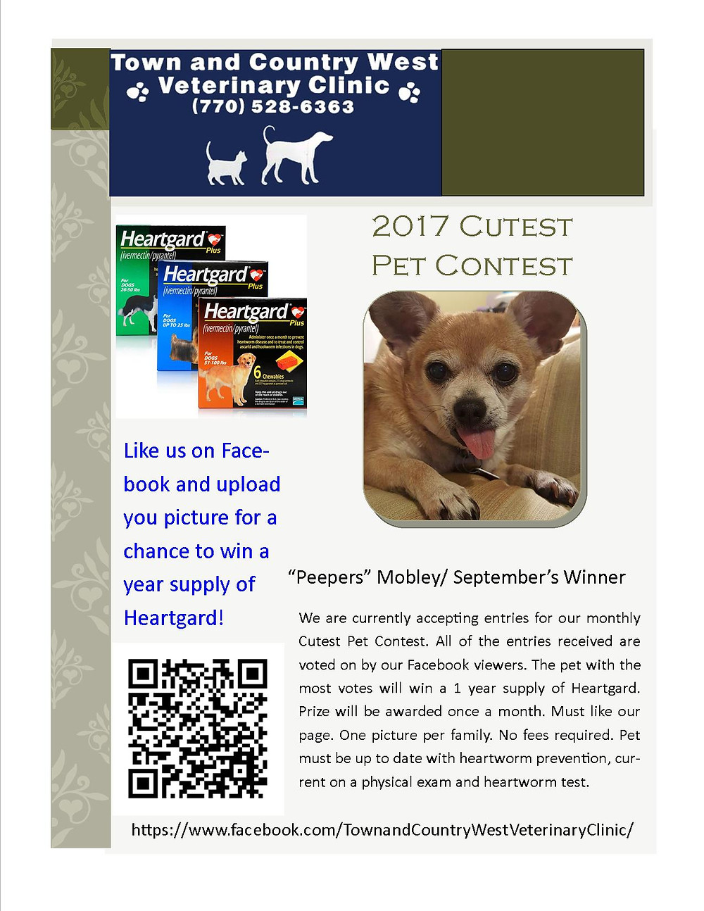 Cutest Pet Contest September 2017