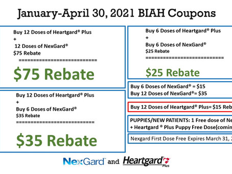 Heargard - Nexgard Promotions January - April 2021