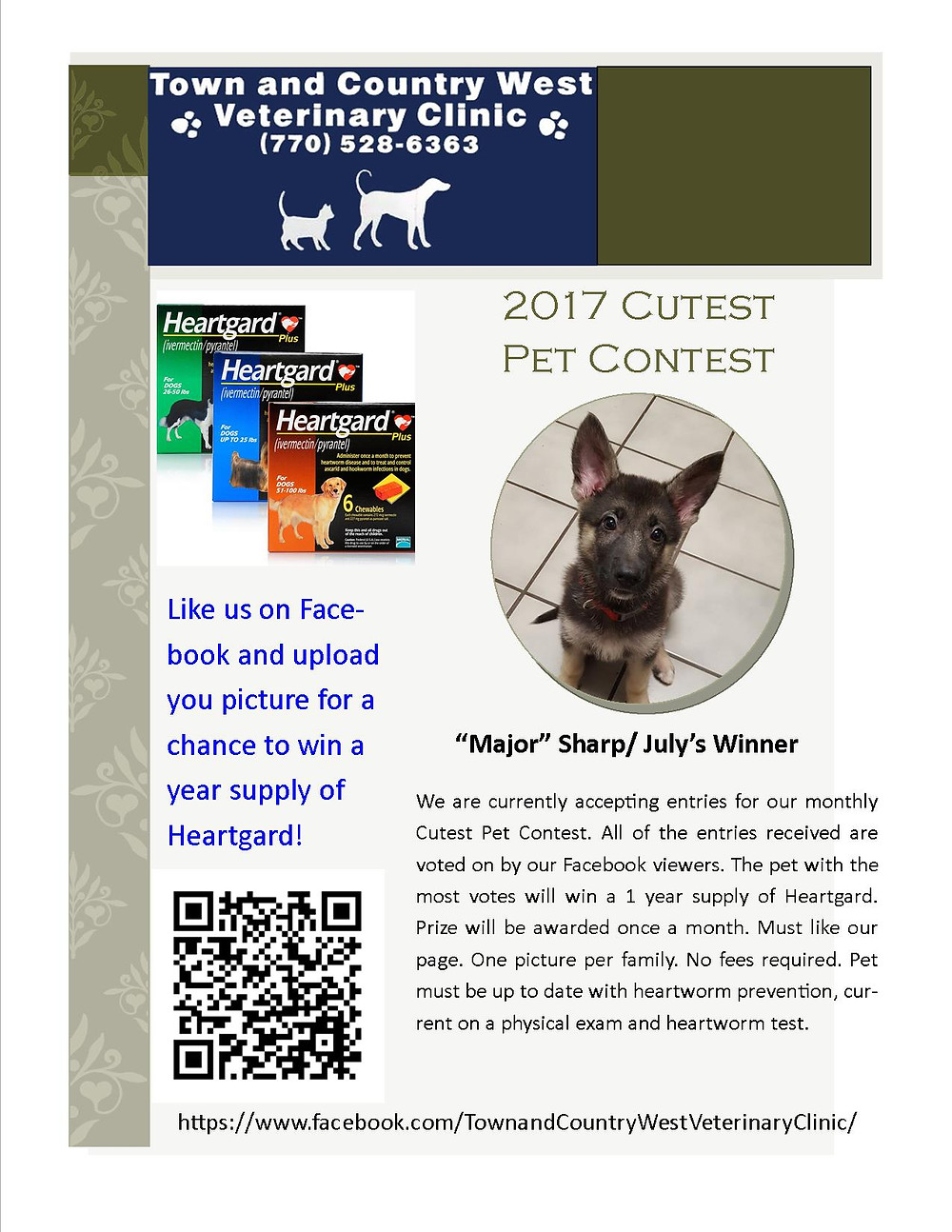 Town & Country West Cutest Pet Contest August 2017