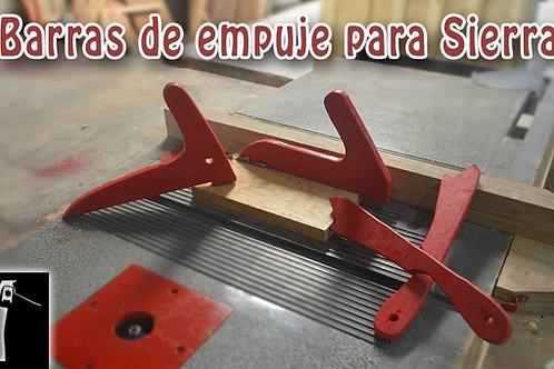 Barras de empuje para sierra de mesa