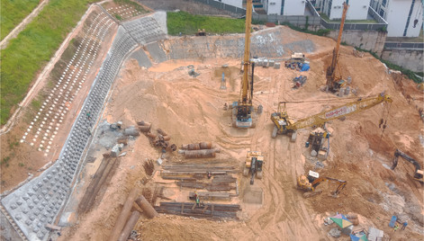 Overview of Upperville site progress.