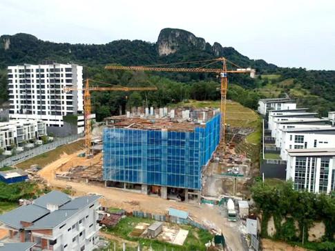 Level 8 (facilities floor) reinforce Concrete (RC) structure works in progress