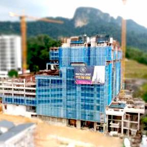 Apartment floor construction in progress.