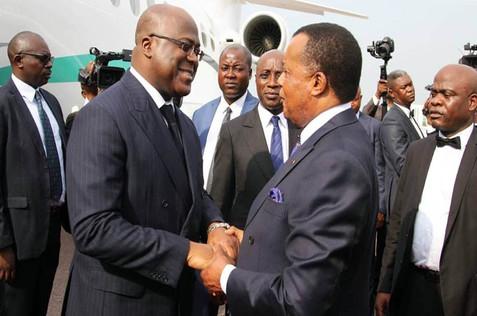 CONGO-BRAZZAVILLE / CONGO KINSHASA : FELIX TSHISEKEDI EN VISITE OFFICIELLE CHEZ DENIS SASSOU NGUESSO