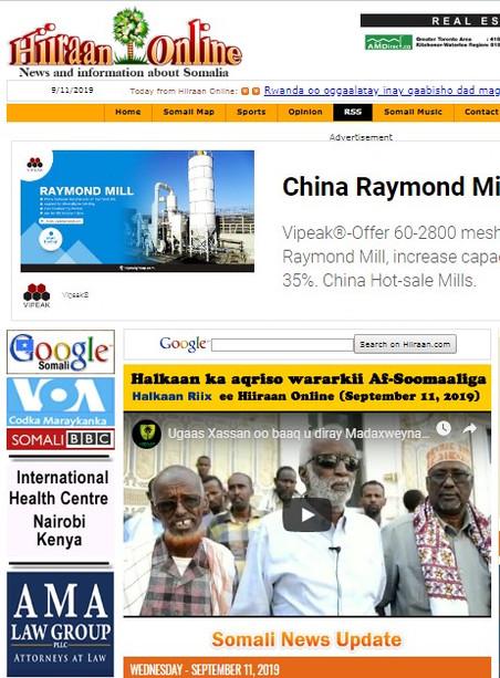 REVUE DE PRESSE AFRICAINE DU 13/09/2019