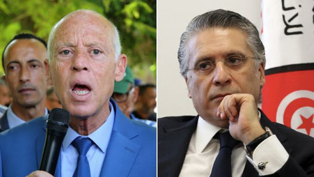 """TUNISIE / PRÉSIDENTIELLE 2019 : KAÏS SAÏED ET NABIL KAROUI 2 CANDIDATS """"ANTI SYSTÈME"""" AU 2"""